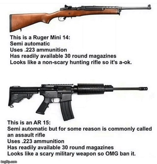 Just wanted to share some educational material I came across online. | PAY ATTENTION, YOU MIGHT LEARN SOMETHING. | image tagged in assault rifle,assault weapons,knee jerk,assault rifle ban,ban | made w/ Imgflip meme maker