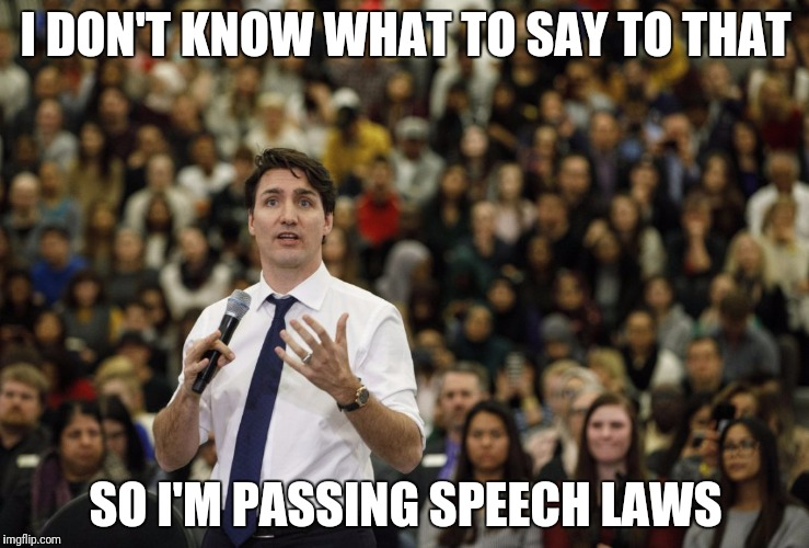I DON'T KNOW WHAT TO SAY TO THAT SO I'M PASSING SPEECH LAWS | made w/ Imgflip meme maker
