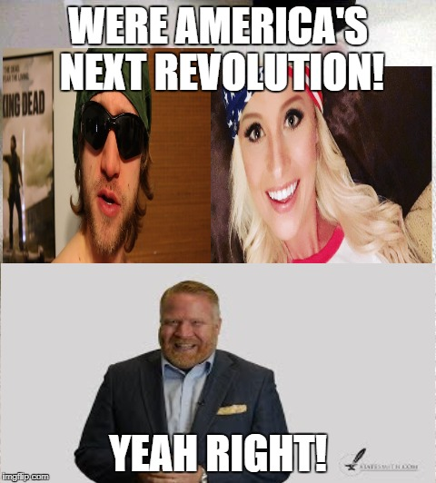 WERE AMERICA'S NEXT REVOLUTION! YEAH RIGHT! | image tagged in scumbag youtube | made w/ Imgflip meme maker