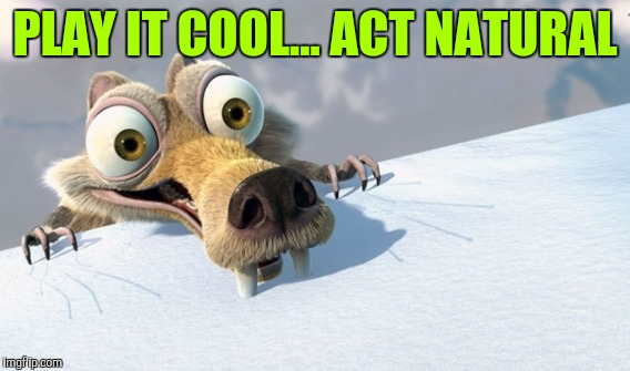 PLAY IT COOL... ACT NATURAL | made w/ Imgflip meme maker