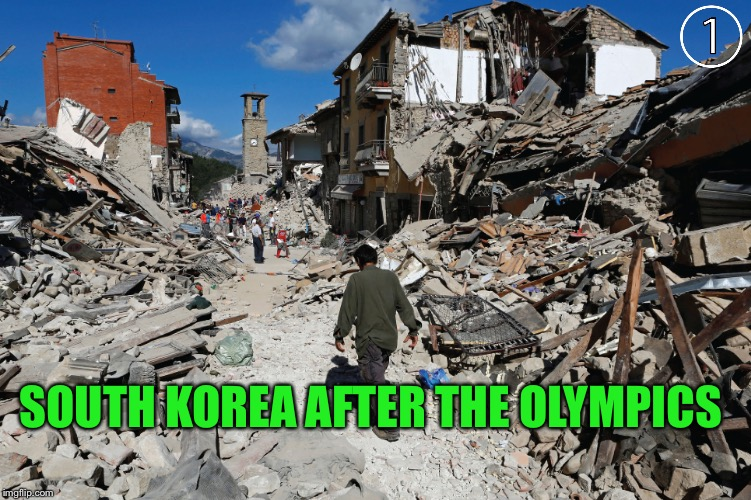 SOUTH KOREA AFTER THE OLYMPICS | made w/ Imgflip meme maker