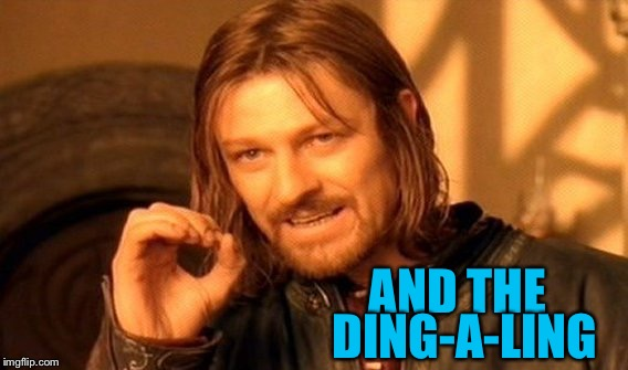 One Does Not Simply Meme | AND THE DING-A-LING | image tagged in memes,one does not simply | made w/ Imgflip meme maker