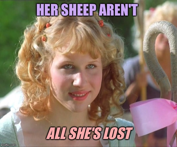 HER SHEEP AREN'T ALL SHE'S LOST | made w/ Imgflip meme maker