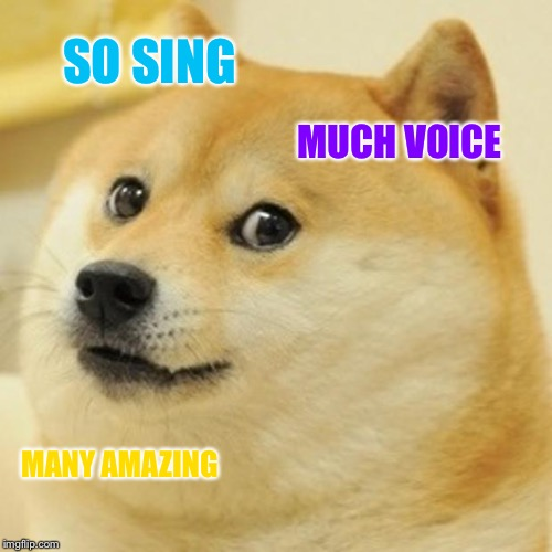Doge Meme | SO SING MUCH VOICE MANY AMAZING | image tagged in memes,doge | made w/ Imgflip meme maker