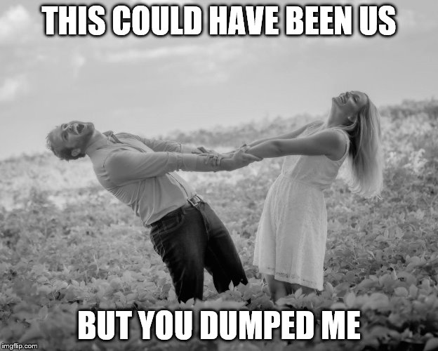 THIS COULD HAVE BEEN US BUT YOU DUMPED ME | image tagged in happy couple | made w/ Imgflip meme maker