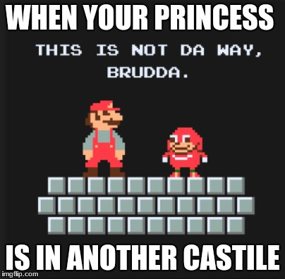WHEN YOUR PRINCESS IS IN ANOTHER CASTILE | image tagged in ugandan knuckles | made w/ Imgflip meme maker