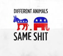 DIFFERENT ANIMALS; SAME SHIT | image tagged in memes,republicans,democrats,tide pods,bleach | made w/ Imgflip meme maker