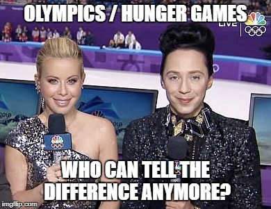 OLYMPICS / HUNGER GAMES WHO CAN TELL THE DIFFERENCE ANYMORE? | image tagged in olympic hunger games | made w/ Imgflip meme maker