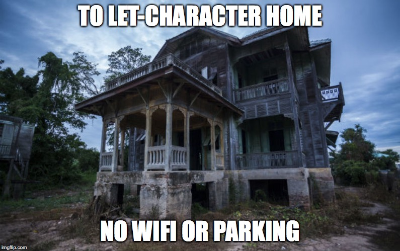 meme pic of abandoned house