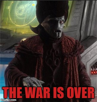 THE WAR IS OVER | made w/ Imgflip meme maker