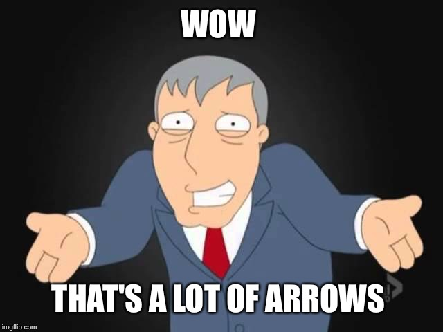 WOW THAT'S A LOT OF ARROWS | made w/ Imgflip meme maker