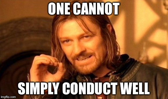 Why does it seem impossible?!! | ONE CANNOT SIMPLY CONDUCT WELL | image tagged in memes,one does not simply,orchestra,conductor | made w/ Imgflip meme maker