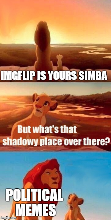 People Take This Site Too Seriously | IMGFLIP IS YOURS SIMBA POLITICAL MEMES | image tagged in memes,simba shadowy place | made w/ Imgflip meme maker