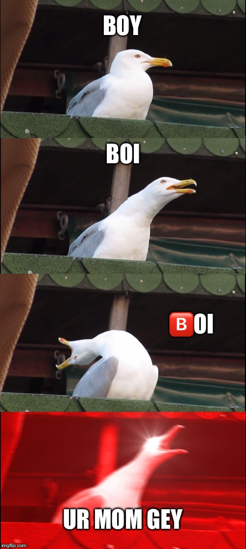 2018 be like  | BOY BOI  | image tagged in memes,inhaling seagull | made w/ Imgflip meme maker