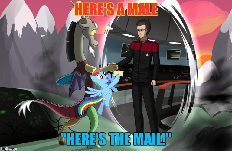 "HERE'S A MALE ""HERE'S THE MAIL!"" 