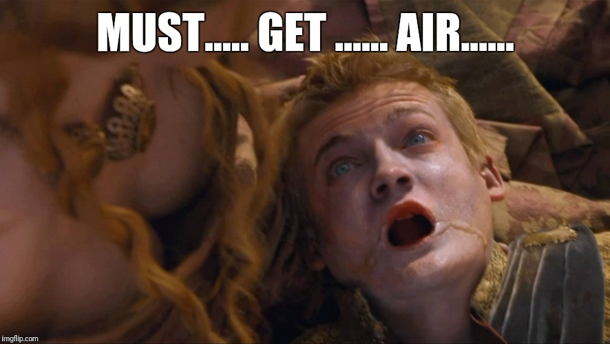 MUST..... GET ...... AIR...... | made w/ Imgflip meme maker