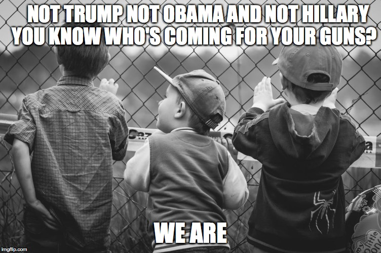 We're coming | NOT TRUMP NOT OBAMA AND NOT HILLARY  YOU KNOW WHO'S COMING FOR YOUR GUNS? WE ARE | image tagged in i guarantee it | made w/ Imgflip meme maker