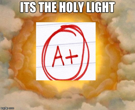 Holy Grail | ITS THE HOLY LIGHT | image tagged in holy grail | made w/ Imgflip meme maker