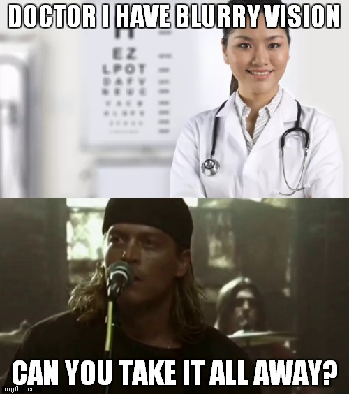 """Blurry"" vision 
