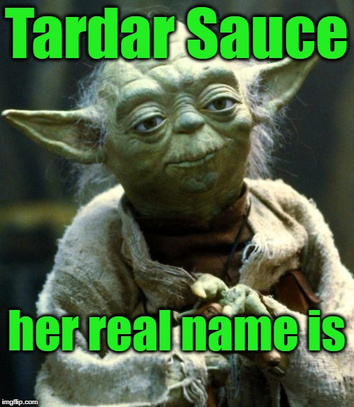 Star Wars Yoda Meme | Tardar Sauce her real name is | image tagged in memes,star wars yoda | made w/ Imgflip meme maker