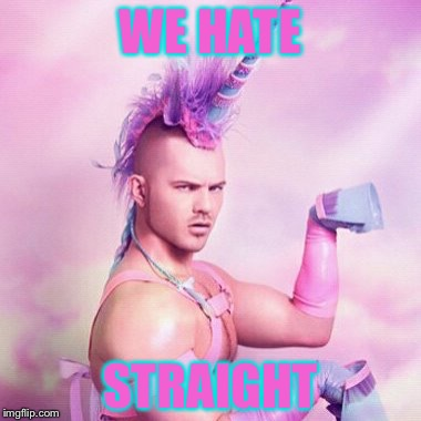 WE HATE STRAIGHT | made w/ Imgflip meme maker