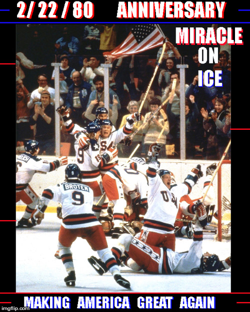 Happy Anniversary Miracle on Ice- Congrats 2018 Gals- the better team won ! | image tagged in usa hockey,olympics 2018,miracle on ice,usa,winter olympics,women's hockey | made w/ Imgflip meme maker