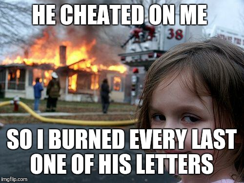 """I know I don't deserve you, Eliza..."" DAMN RIGHT YOU DON'T! 