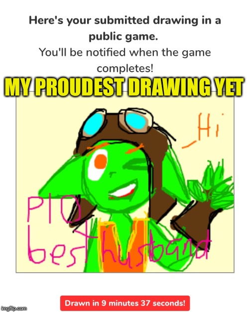 Even though I'm not that good at drawing in drawception | MY PROUDEST DRAWING YET | image tagged in drawings,drawception,ruckus,paladins | made w/ Imgflip meme maker
