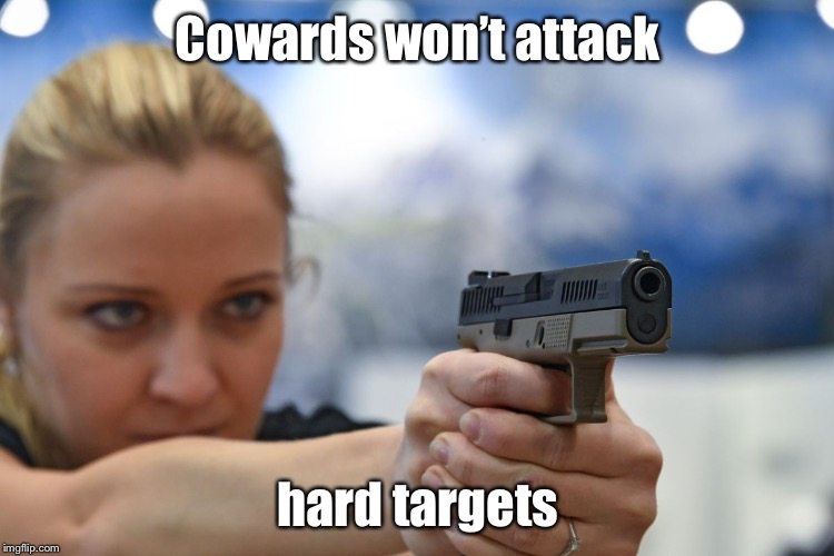 No more soft targets | Cowards won't attack hard targets | image tagged in memes,defensive arms,cowards,terrorists,soft targets | made w/ Imgflip meme maker