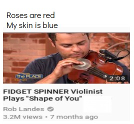 Roses are red my body is blue | image tagged in roses are red,violin,music | made w/ Imgflip meme maker