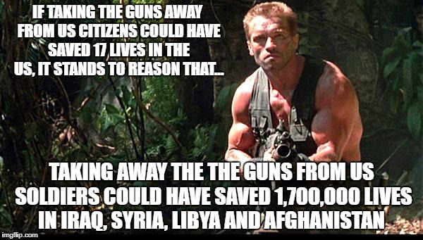 Guns Out | IF TAKING THE GUNS AWAY FROM US CITIZENS COULD HAVE SAVED 17 LIVES IN THE US, IT STANDS TO REASON THAT... TAKING AWAY THE THE GUNS FROM US S | image tagged in guns out | made w/ Imgflip meme maker