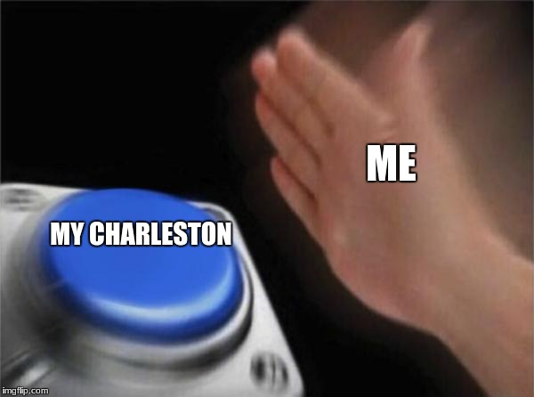 idk | ME MY CHARLESTON | image tagged in memes,my life | made w/ Imgflip meme maker