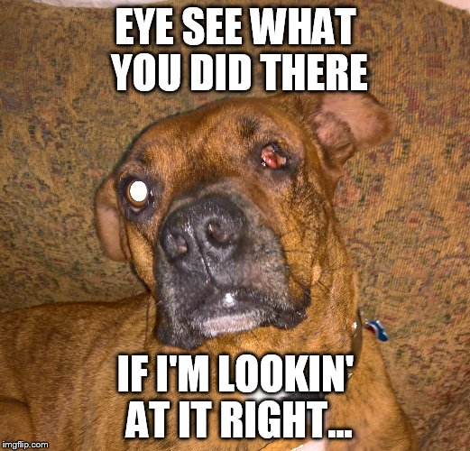 EYE SEE WHAT YOU DID THERE IF I'M LOOKIN' AT IT RIGHT... | made w/ Imgflip meme maker