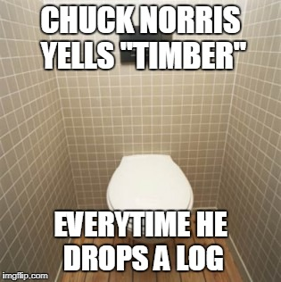 "Chuck Norris Yells Timber | CHUCK NORRIS YELLS ""TIMBER"" EVERYTIME HE DROPS A LOG 