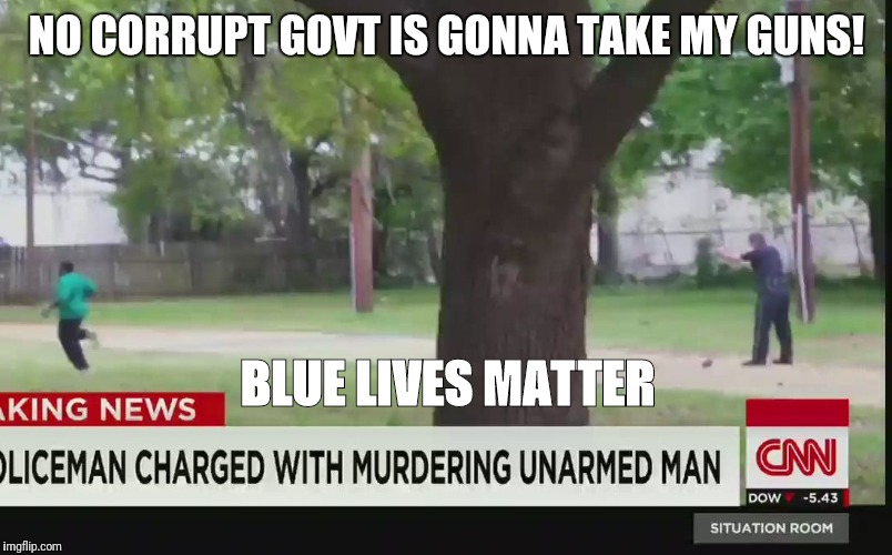 NO CORRUPT GOVT IS GONNA TAKE MY GUNS! BLUE LIVES MATTER | image tagged in memes | made w/ Imgflip meme maker