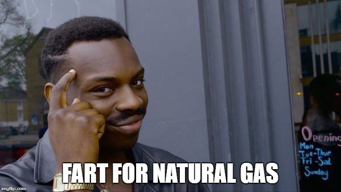 Roll Safe Think About It Meme | FART FOR NATURAL GAS | image tagged in memes,roll safe think about it | made w/ Imgflip meme maker