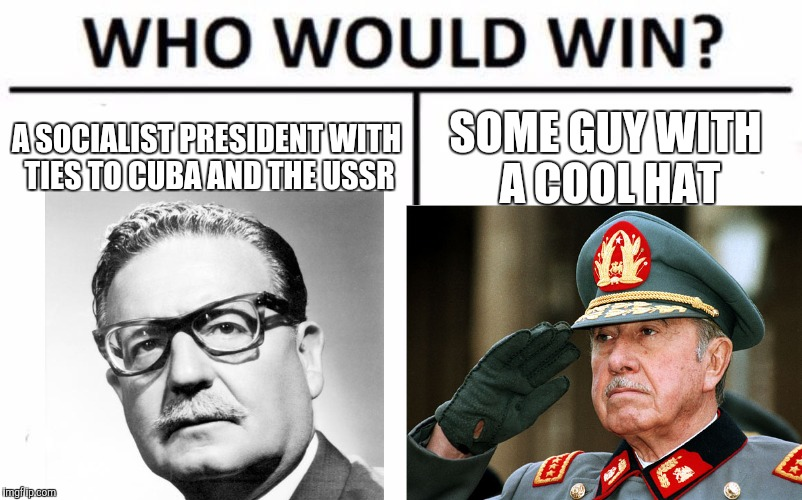 A SOCIALIST PRESIDENT WITH TIES TO CUBA AND THE USSR SOME GUY WITH A COOL HAT | image tagged in communism and capitalism,right wing,capitalism,communism,socialism | made w/ Imgflip meme maker
