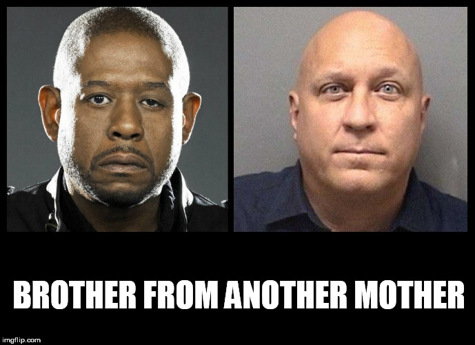 BROTHER FROM ANOTHER MOTHER | image tagged in forest whitaker eye,lazy,eyes,eye,brother,opposites | made w/ Imgflip meme maker