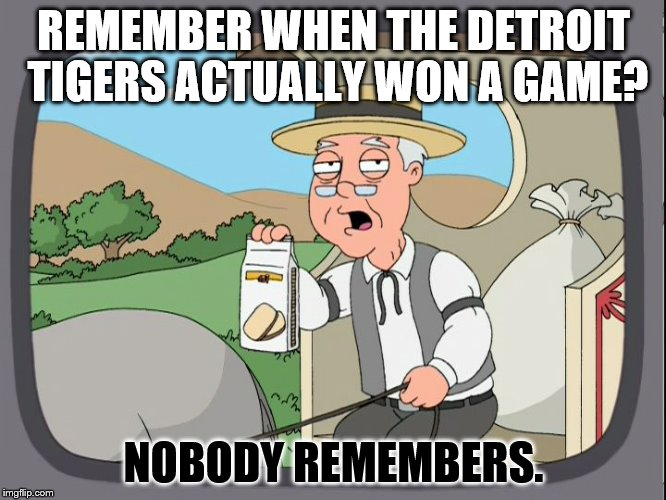 Pepperridge Farm | REMEMBER WHEN THE DETROIT TIGERS ACTUALLY WON A GAME? NOBODY REMEMBERS. | image tagged in pepperridge farm | made w/ Imgflip meme maker