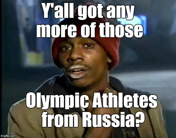"As far as dodges go, this one is Olympic© in proportion. ""The cheaters can come to the games but leave their flag at home."" 