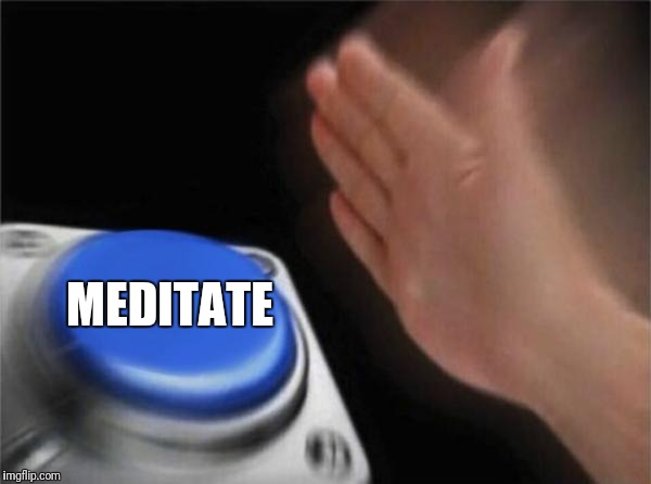 Blank Nut Button Meme | MEDITATE | image tagged in memes,blank nut button | made w/ Imgflip meme maker
