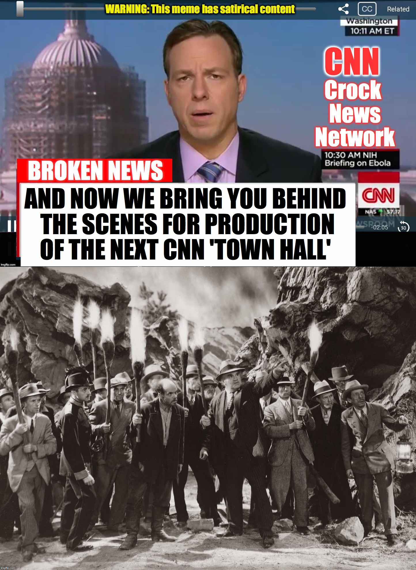 AND NOW WE BRING YOU BEHIND THE SCENES FOR PRODUCTION OF THE NEXT CNN 'TOWN HALL' | image tagged in cnn broken news | made w/ Imgflip meme maker