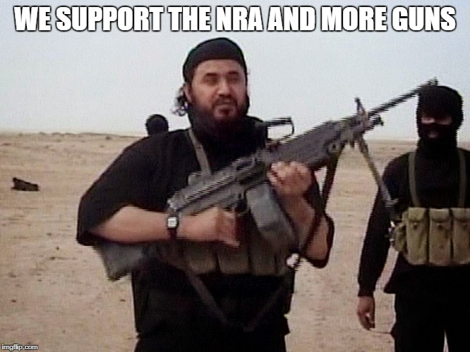 WE SUPPORT THE NRA AND MORE GUNS | made w/ Imgflip meme maker