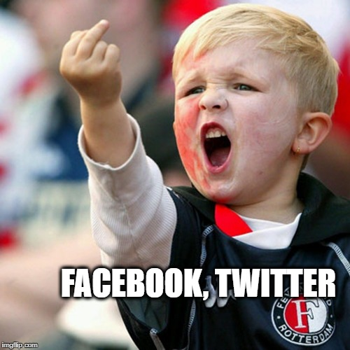 Finger Kid | FACEBOOK, TWITTER | image tagged in finger kid | made w/ Imgflip meme maker