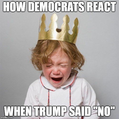 "Cry Babies | HOW DEMOCRATS REACT WHEN TRUMP SAID ""NO"" 
