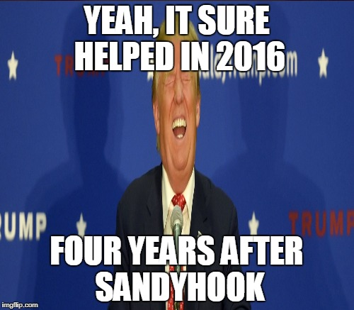 YEAH, IT SURE HELPED IN 2016 FOUR YEARS AFTER SANDYHOOK | made w/ Imgflip meme maker