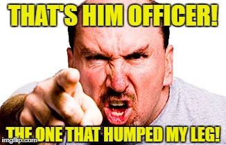 THAT'S HIM OFFICER! THE ONE THAT HUMPED MY LEG! | made w/ Imgflip meme maker