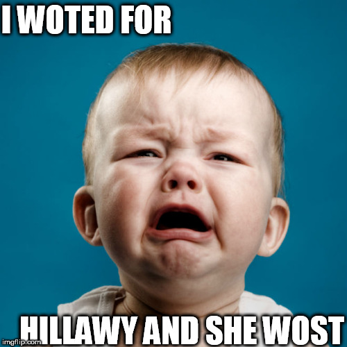 I WOTED FOR HILLAWY AND SHE WOST | made w/ Imgflip meme maker