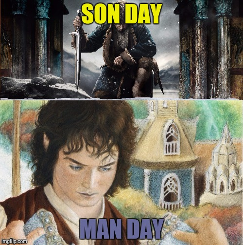 SON DAY MAN DAY | made w/ Imgflip meme maker