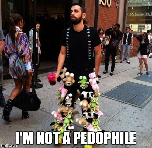 Pedo | I'M NOT A PEDOPHILE | image tagged in pedophile,pedobear,pedophilia,pedo,pedo bear,pedophiles | made w/ Imgflip meme maker